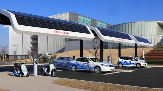 Honda Electric Car Charging Station