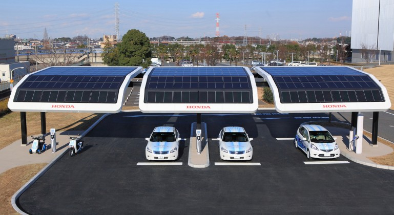 Honda's Solar-Powered EV Charging Station