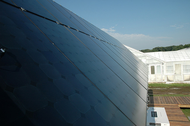 Illinois Solar Array Showing Solar Cells
