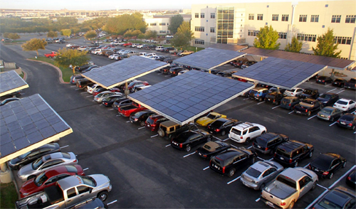 Solar power, plug-in cars