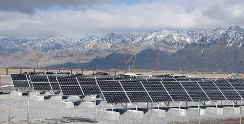 Solar Array beneath the Wasatch Range, UT