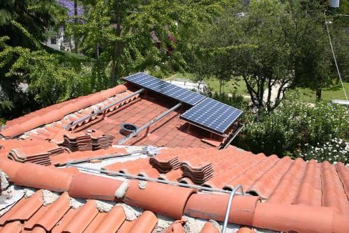 solar tile roof