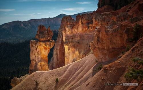The sun's first rays on a Utah National Park.